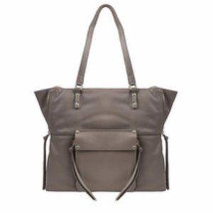 Kooba Everette Genuine Leather Taupe Large Handbag